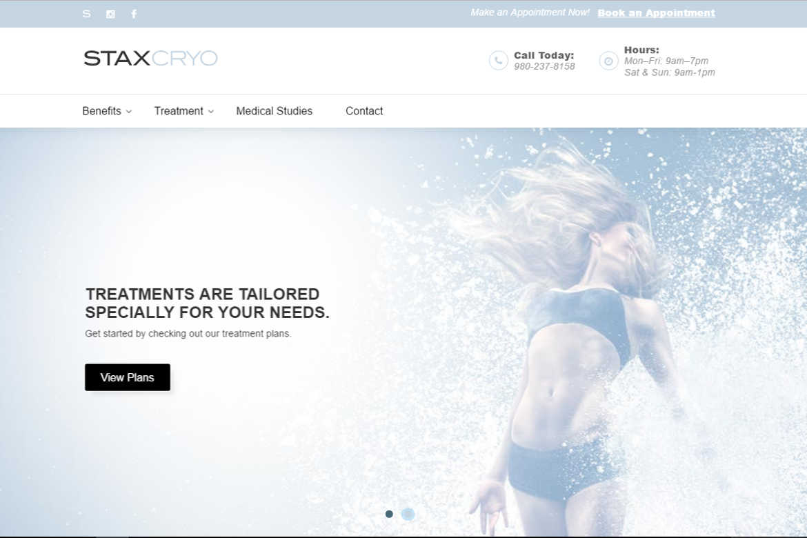 STAXCryo.com Home or Landing Page